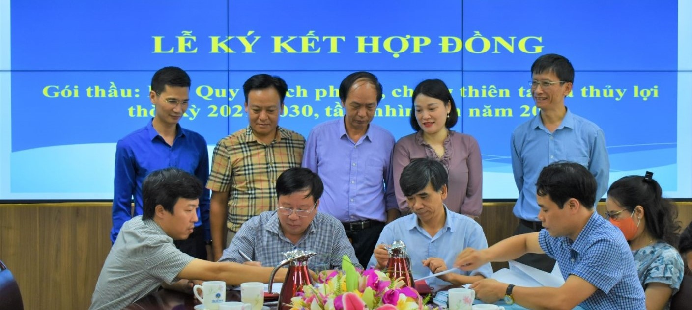 IWRP and Southern IWRP signs a contract with the Directorate of Water Resources to develop