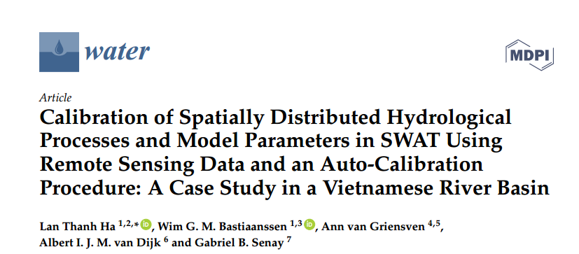 New publication from IWRP on the application of remote sensing and spatial data to improve model's simulations of eco-hydrological processes