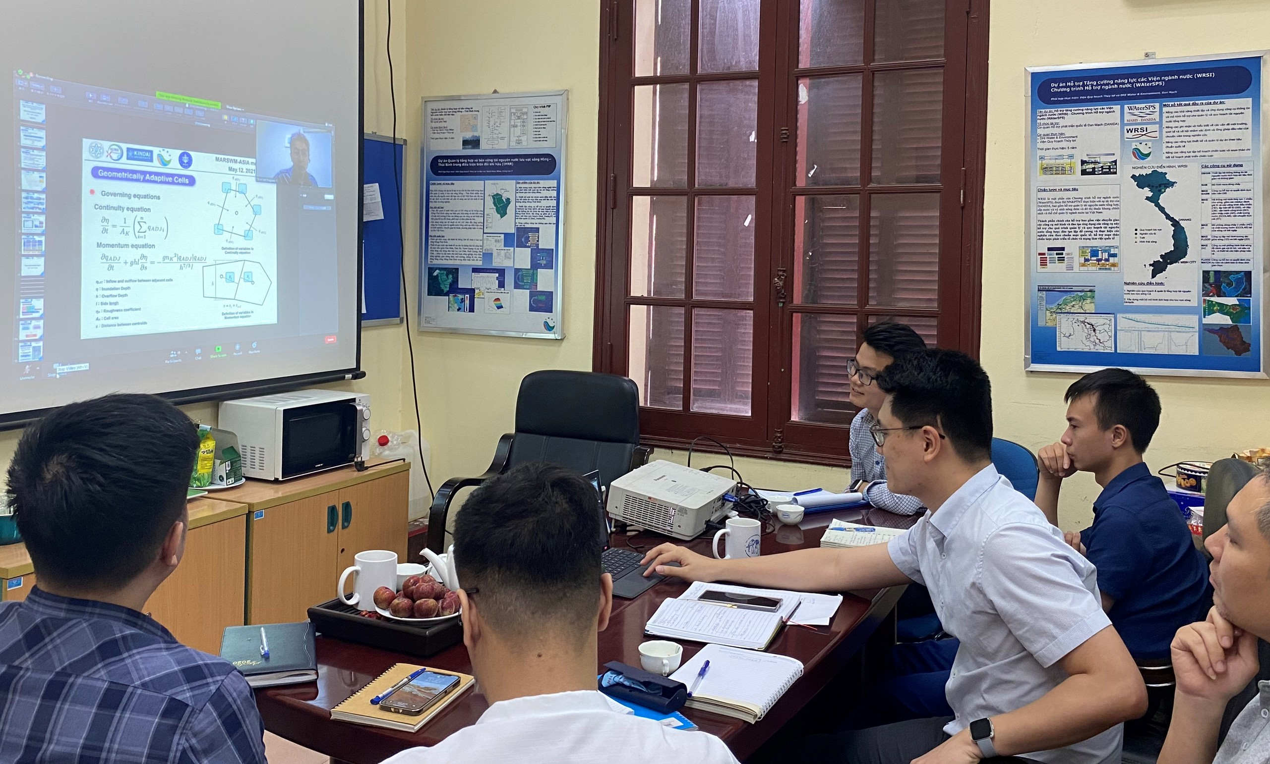 Online meeting between the IWRP and the Japanese and Indonesian partners of the Project